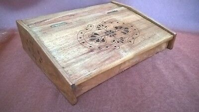 Wooden Brass Inlay Writing Slope Desk Box