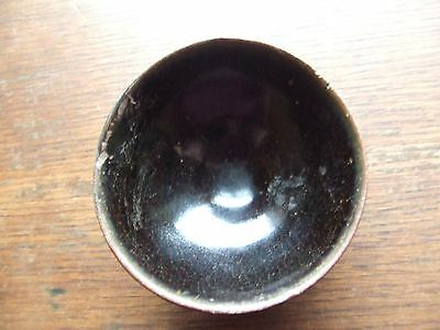 CHINA.  SUNG DYNASTY.  12th/13th CENTURY.  BLACK GLAZED POTTERY TEA BOWL,