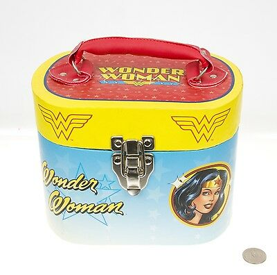 Wonder Woman Oval Paper Tote Makeup Carrying Case Bag DC Comics