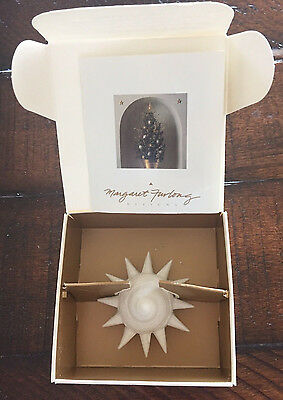 Margaret Furlong SUNSHELL Coastal Christmas Ornament 1993 in box; shell, beachy
