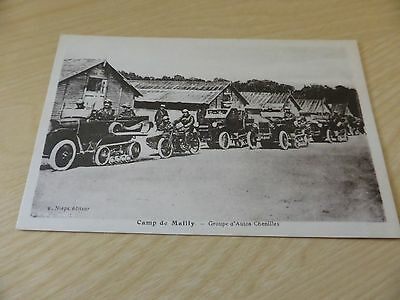 WW1 Camp de Mailly GROUPE D'AUTOS CHENILLES Unused Postcard 1