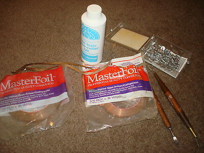 Lot of Stained Glass Supplies Including Copper Foil