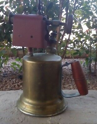 ANTIQUE BRASS BLOW TORCH, OTTO and BERNZ ROCHESTER NY
