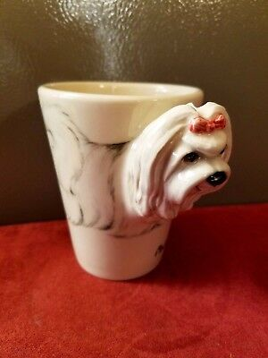 Maltese Coffee Mug 3 D,By Blue Witch. New. 1 Left