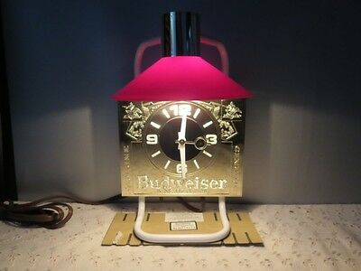Budweiser King of Beer,Indoor electric lighted bar sign and working clock