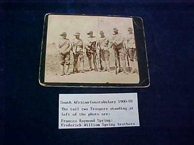 "Named Orig Boer War Real Photo South African Constabulary ""SAC"" 1900-01"