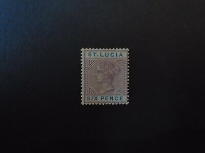 St Lucia / Commonwealth QV 1891 SG 49 6d MM