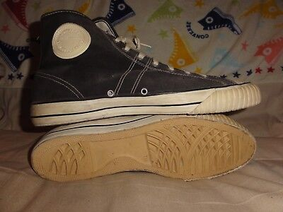 VINTAGE CONVERSE BLACK HIGH TOPS MADE IN USA SIZE 11.5 MENS 1960s