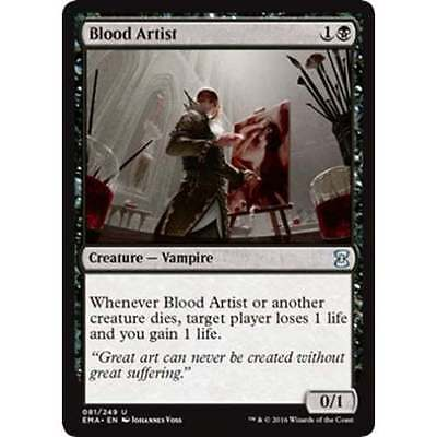 1x BLOOD ARTIST - Rare - Modern Masters/Avacyn - MTG - NM - Magic the Gathering