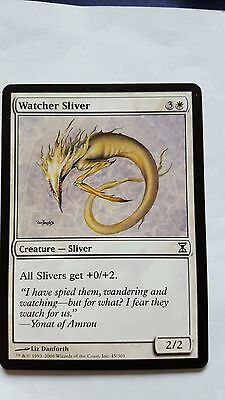 2x WATCHER SLIVER - Rare - Time SPiral - MTG - NM - Magic the Gathering