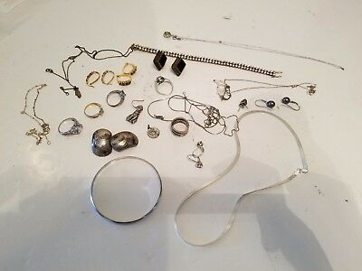 Huge Lot Sterling Silver Jewelry Rings Earrings Necklaces Bracelets 925 108 gram