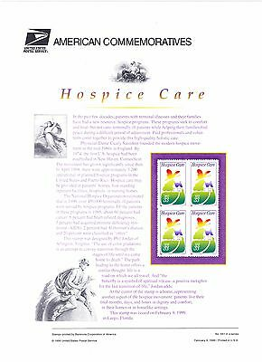 USPS Commemorative Panel 561 #3276 Hospice Care Aging End of Life Mint Blk/4