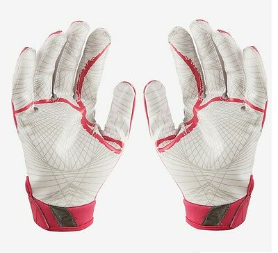 Nike VAPOR JET 4 Wide Receiver Gloves BREAST CANCER GF0560 616 Youth SMALL