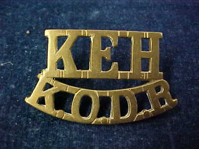 "Original WW1 Metal Shoulder Title King Edwards Horse ""KEH"" over ""KODR"""