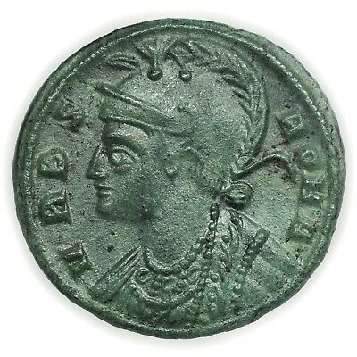 Roman Empire (330-354 AD) Urbs Roma Commem AE Follis Rare Coin [3358.08]