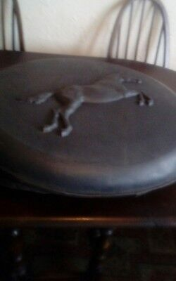 moulded plastic spare wheel cover rearing horse