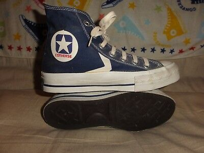 VINTAGE CONVERSE CX PRO BLUE HIGH TOPS MADE IN USA SIZE 4.5 1970s