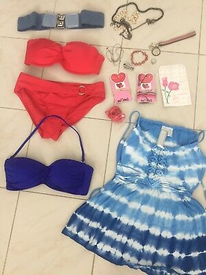 Lot Of Women's Clothes, Small Size Swimwear, Sephora, Blue Belt, Jewelry, Sexy