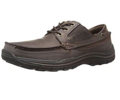 New Skechers Men Expected Gembel Relaxed Fit Oxford Shoe Dark Brown Select Size