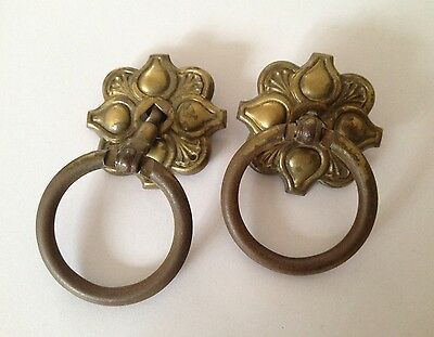 Authentic Vintage Hardware Set Of 2 Drawer Pulls Decor Design