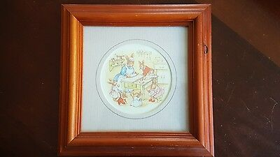 Royal Doulton Bunnykins 1988 Timber Framed Print Series No: 717 Manuscript Ltd