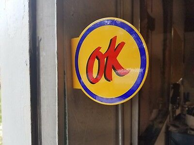 OK Used Car Micro Flange Sign Vintage Porcelain Style Chevrolet GMC Garage decor