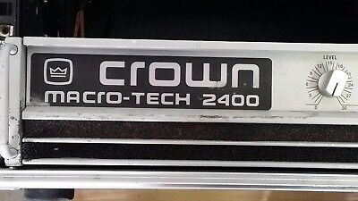 Crown Macrotech 2400 power amplifier