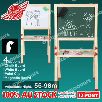 Adjustable height wooden artist easel 4 in 1 Magnetic Board Paint Clip