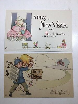 Vintage postcards lot of 3 Feinstein Series 35 A D E, 2 posted 1916