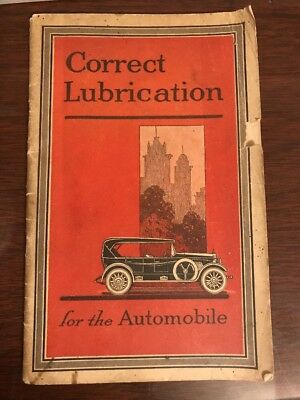 1921 CORRECT LUBRICATION FOR THE AUTOMOBILE Standard Oil Co MOBILOILS