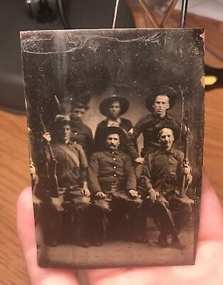 Tintype Of A Colorado Western Gang By Black Photographer