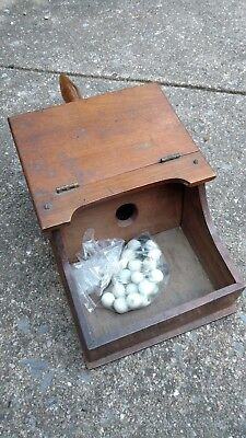 Early Fire Department Voting Ballet Box w/Marbles