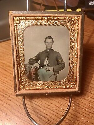1/6th Plate Tintype Of Sergeant Civil War Soldier