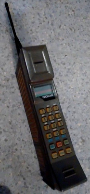 Nokia P-30 vintage cell phone with hands-free car kit