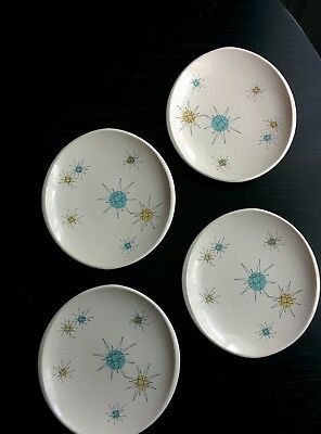 "4 Franciscan Starburst - Mid Century 8"" Salad Plate - Excellent Condition."