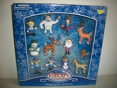 Rudolph and the Island of Misfit Toys lot of 12 Holiday Clip-On Collection NIB!