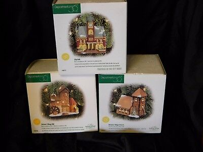 Lot of 3 Department 56 Heritage Village Collection Dickens Christmas in City