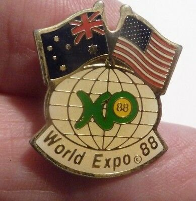 australia usa world expo 88 badge