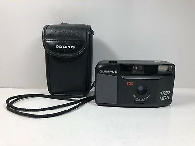 OLYMPUS TRIP MD3 DX 35mm Film Point and Shoot Camera W/Case