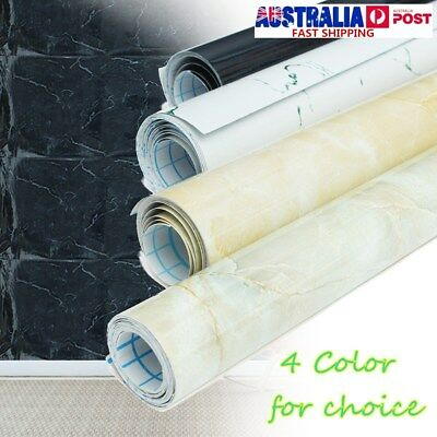 5M 3D Marble Effect Contact Self Adhesive Wallpaper Waterproof Mural Home Decor