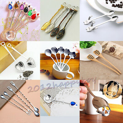 8Styles Cat Stainless Steel Ice Cream Cocktail Teaspoons Coffee Soup Tea Spoon