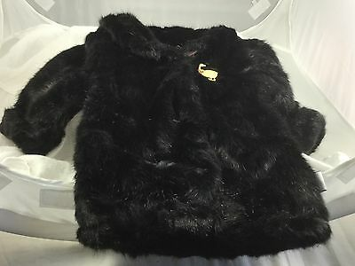 Carousel By Guy Black Faux Fur Mink Coat Christmas Stocking