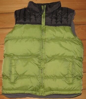 Gymboree Little Boys Insulated Puffer Vest 5 6 Small Green Gray Jacket Coat