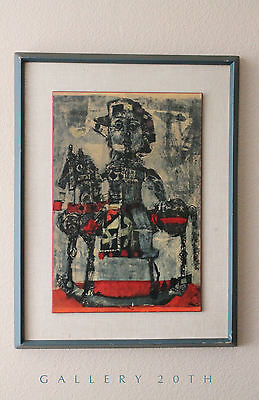 MID CENTURY ORIG ANTONI CLAVE LITHOGRAPH! 50's Abstract Art Vtg Picasso Painting