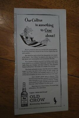 Old Crow Kentucky Bourbon 1963 Playboy Magazine ad - Good