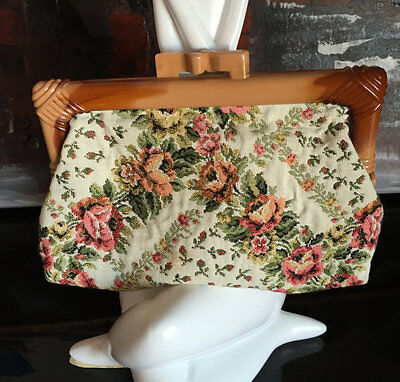Vintage Small Tapestry Purse