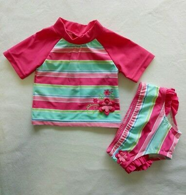 Sprout baby Girl Swimwear Set size 00 Rash shirt & Matching Bikini Bottom Cute!