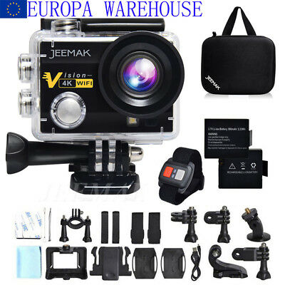 Action Cam JEEMAK ACT74R 4K Sports Camera WIFI Ultra HD Helmkamera Wasserdichte