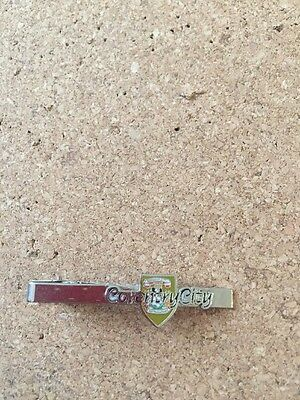 Coventry City FC Tie Pin Navy Writing Gold Badge