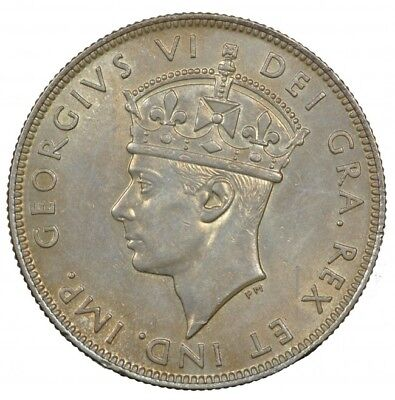 1938 Cyprus Silver 18 Piastres, King George Vi, Nicely Toned